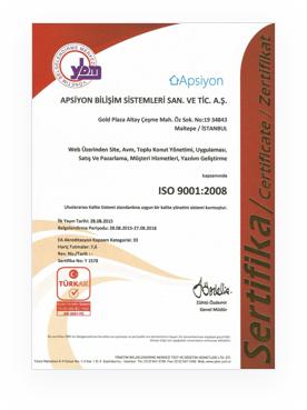 Apsiyon Sertifika 9001