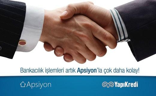 Apsiyon, sektörünün liderlerinden Yapı Kredi ile anlaştı.