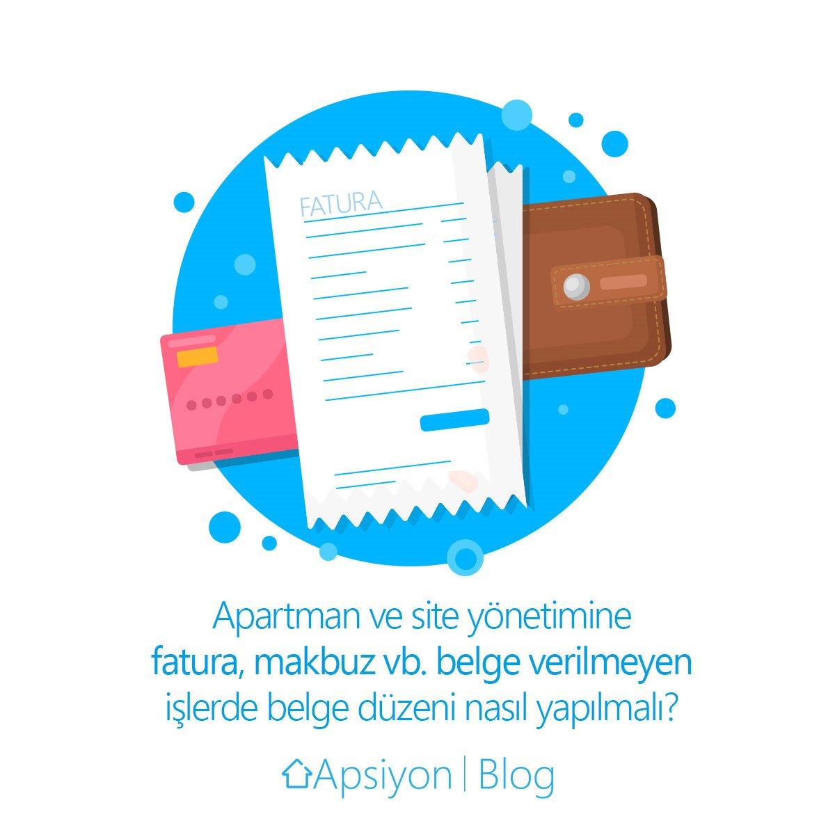 Apartman ve Site Yönetimine  Fatura, Makbuz vb. Belge Verilmeyen İşlerde Belge Düzeni Nasıl Yapılmalı?