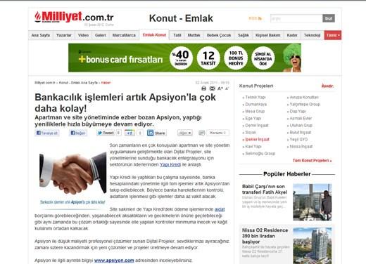 Milliyet.com.tr - Bankacılık işlemleri artık Apsiyon'la çok daha kolay!