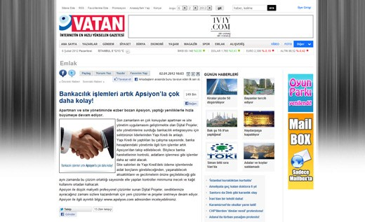 gazetevatan.com - Bankacılık işlemleri artık Apsiyon'la çok daha kolay!