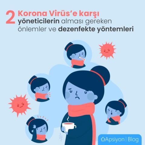 Korona Virüs'e Karşı Yönetimlerin Alması Gereken Önlemler ve Dezenfekte Yöntemleri