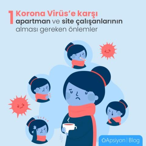 Apartman, Site gibi Toplu Yapılarda Çalışanların Korona Virüsü'ne Karşı Alması Gereken Önlemler Nelerdir?